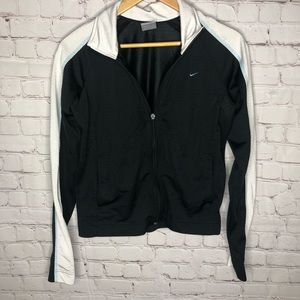 Nike Black And White Zip Up Track Jacket